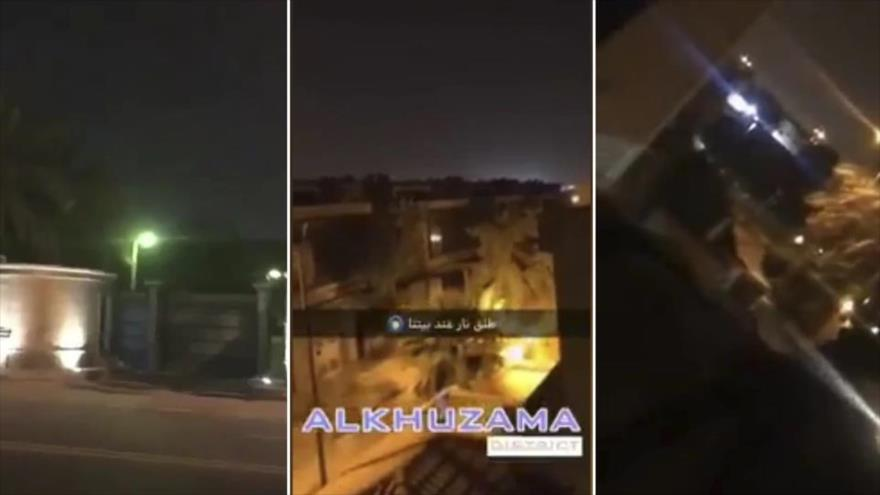 Vídeo: Se registran disparos junto al palacio del rey saudí