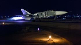 Aviación rusa acaba con posiciones de EIIL en el sur de Damasco