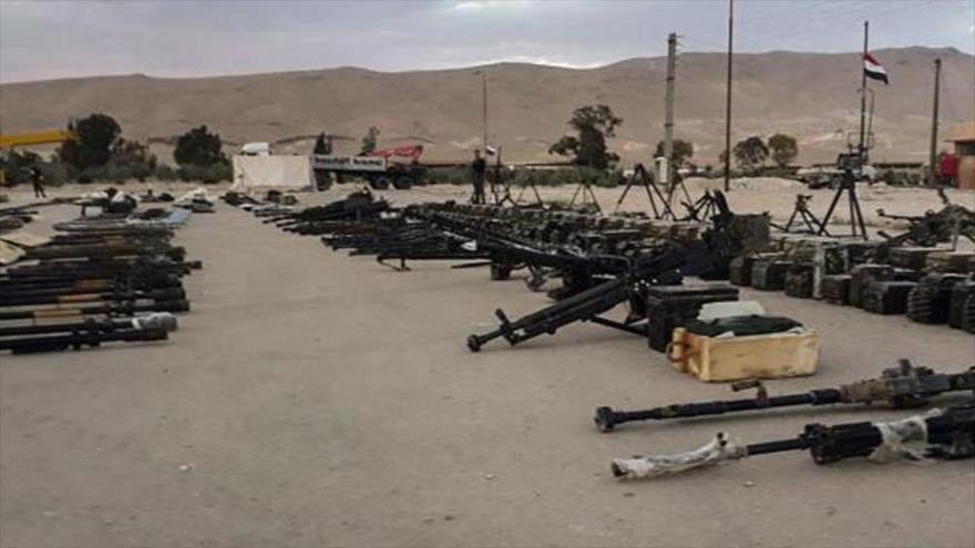 Vídeo: Siria confisca en Qalamun numerosas armas a rebeldes