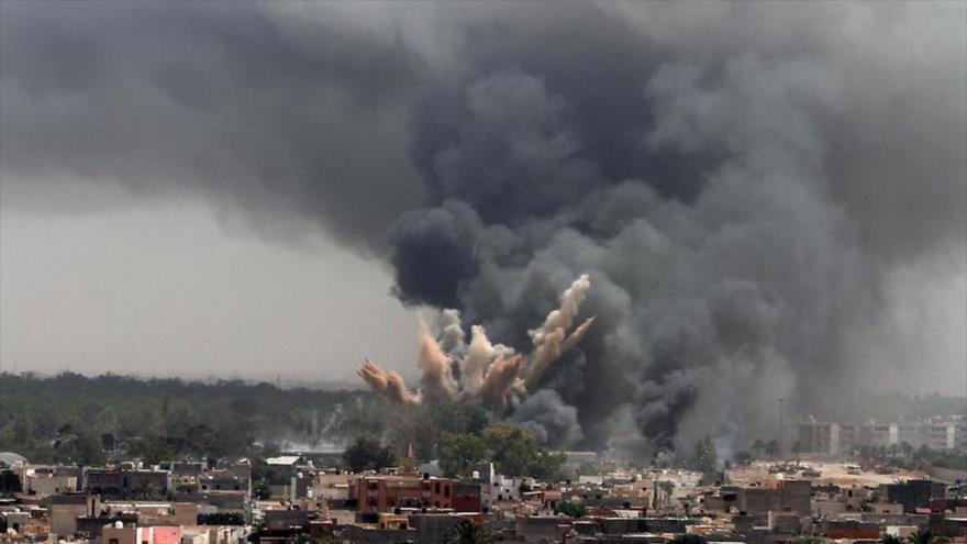 Un ataque aéreo efectuado por aviones militares saudíes en Yemen.