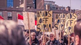 Canadienses protestan contra ataques a Siria durante cumbre de G7
