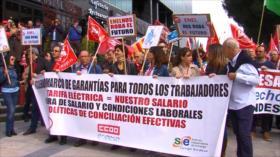 Trabajadores protestan en Madrid ante posibles recortes de Endesa