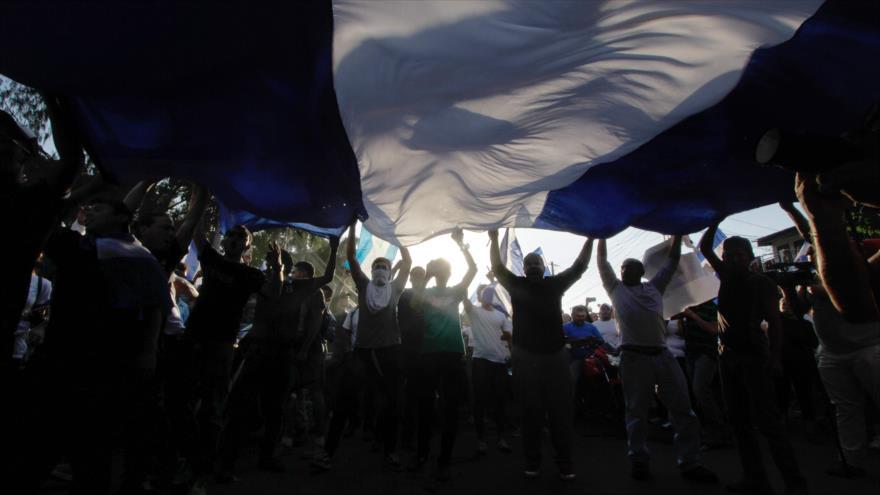 Protestas antigubernamentales en Managua, capital de Nicaragua, 23 de abril de 2018.