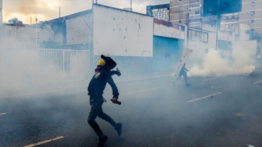 Una manifestación antigubernamental en Caracas, capital de Venezuela, 10 de abril de 2017.