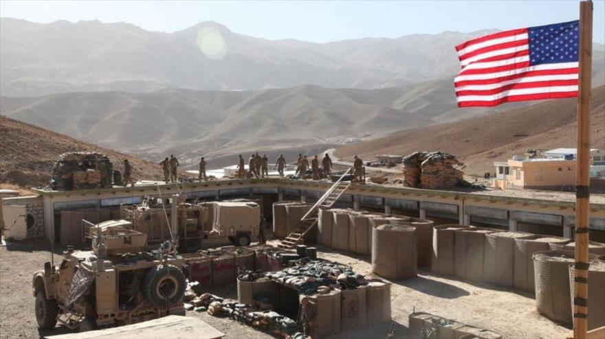 Los soldados del Ejército de EE.UU. en una base militar.