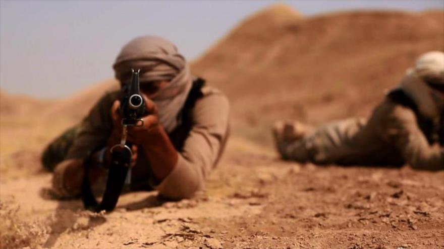 Integrantes del grupo terrorista EIIL (Daesh, en árabe) en Kirkuk, Irak.