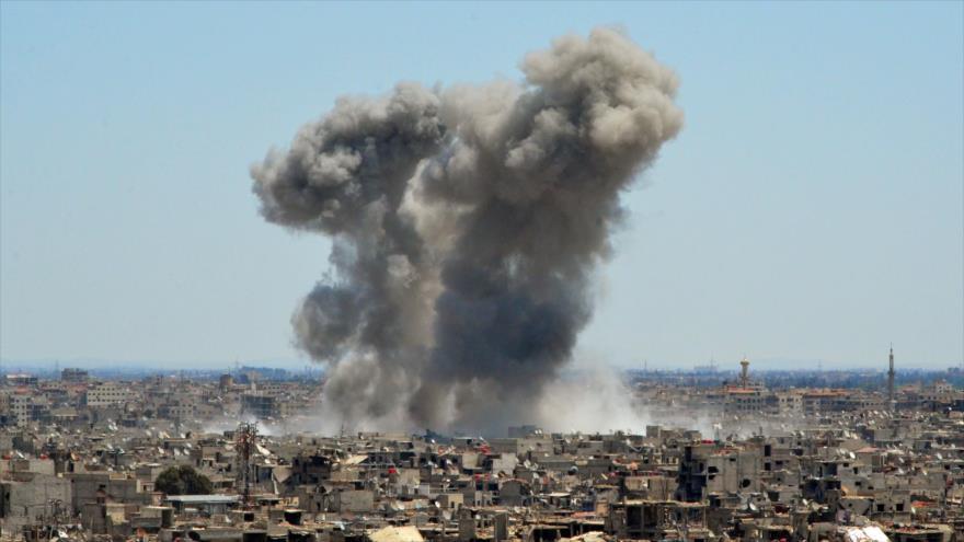 Ejército sirio avanza contra terroristas en el sur de Damasco