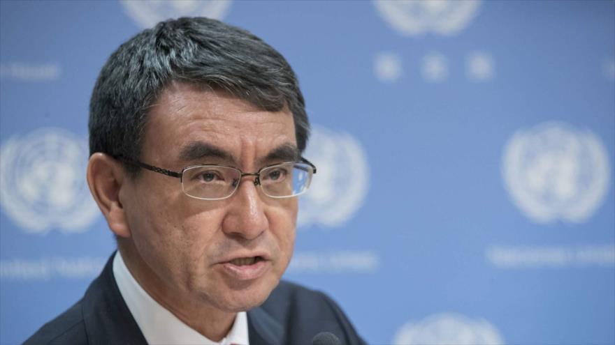 El ministro de Exteriores de Japón, Taro Kono.