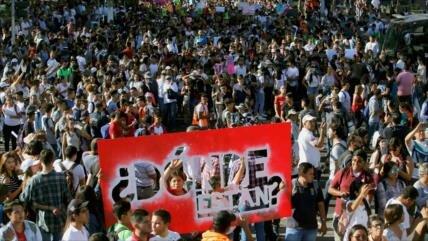 Unos 12.000 mexicanos protestan contra la inseguridad en el país