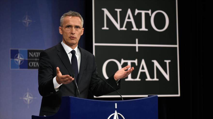 El secretario general de la Organización del Tratado del Atlántico Norte (OTAN), Jens Stoltenberg, en Bruselas, 27 de abril de 2018.