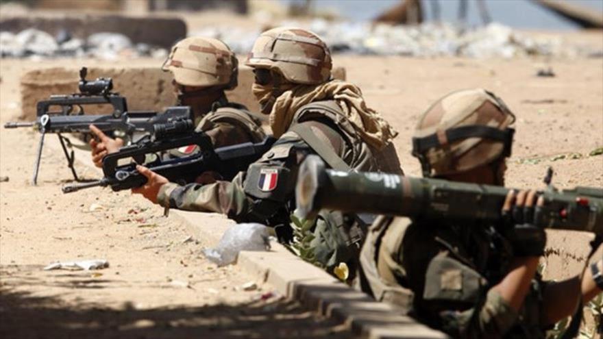 Las fuerzas especiales de Francia en una operación militar.