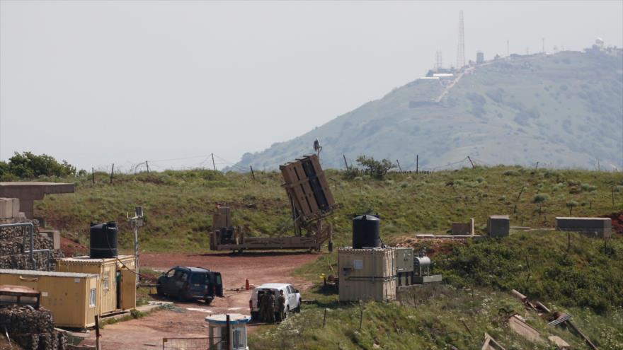 Un sistema antiaéreo israelí desplegado en los altos de Golán, anexionados por Israel, cerca de Siria, 9 de abril de 2018.