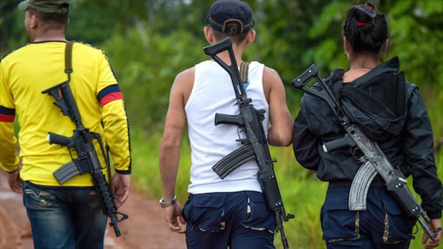 Miembros del Frente Oliver Sinisterra, disidente de la exguerrilla FARC y liderado por Walter Artízala.