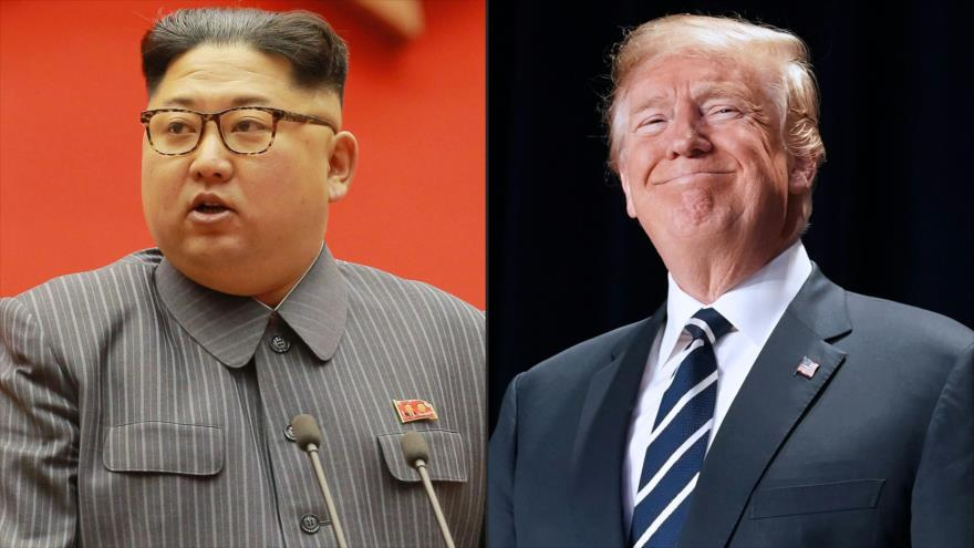 El líder de Corea del Norte, Kim Jong-un (izq.), y el presidente de EE.UU., Donald Trump.