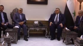 Alto parlamentario iraní se reúne con funcionarios sirios en Damasco