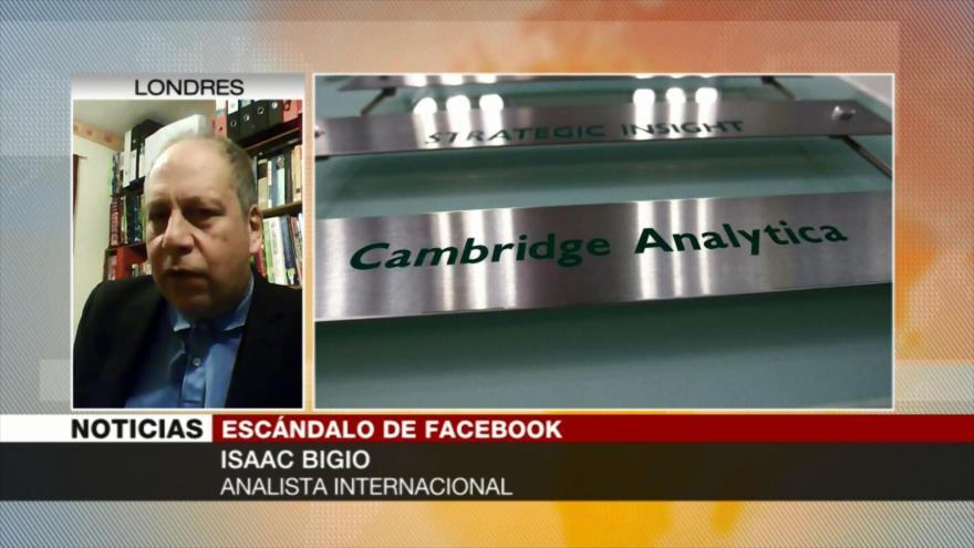 'Empresa Cambridge Analytica está vinculada al Gobierno británico'