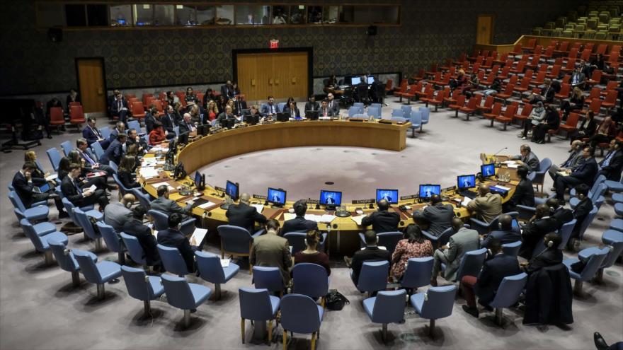 Una sesión del Consejo de Seguridad de las Naciones Unidas (CSNU) sobre Corea del Norte, 21 de marzo de 2018.