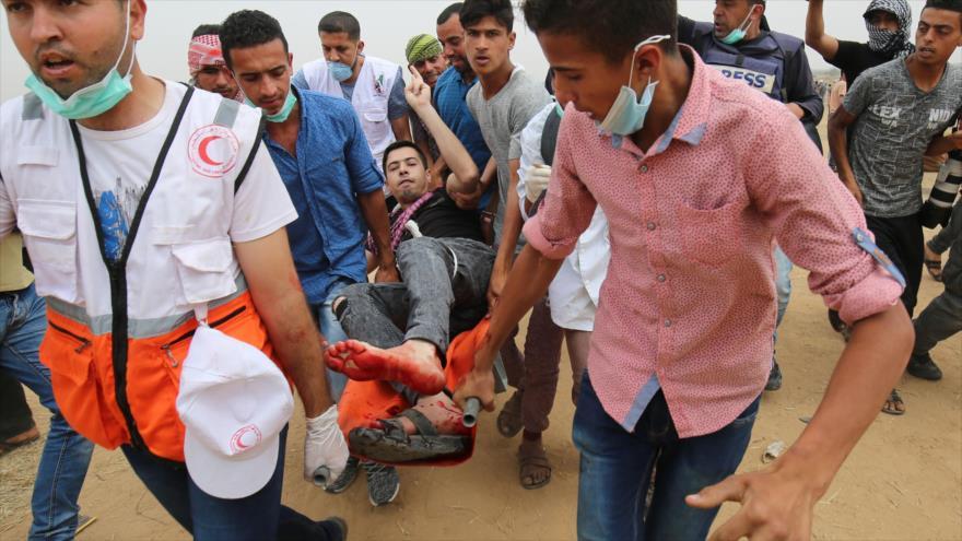Militares israelíes dejan 1143 palestinos heridos en la Franja de Gaza