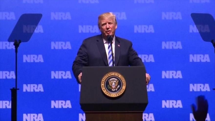 Donald Trump defiende la portación de armas