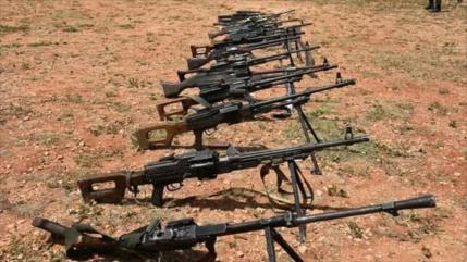 Terroristas entregan 1200 armas al Ejército sirio en Damasco
