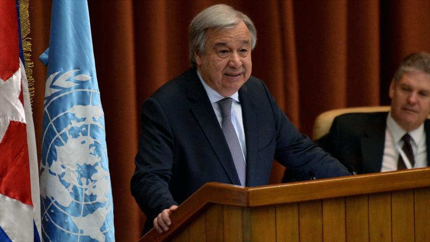 El secretario general de la Organización de las Naciones Unidas (ONU), Antonio Guterres, 8 de mayo de 2018.