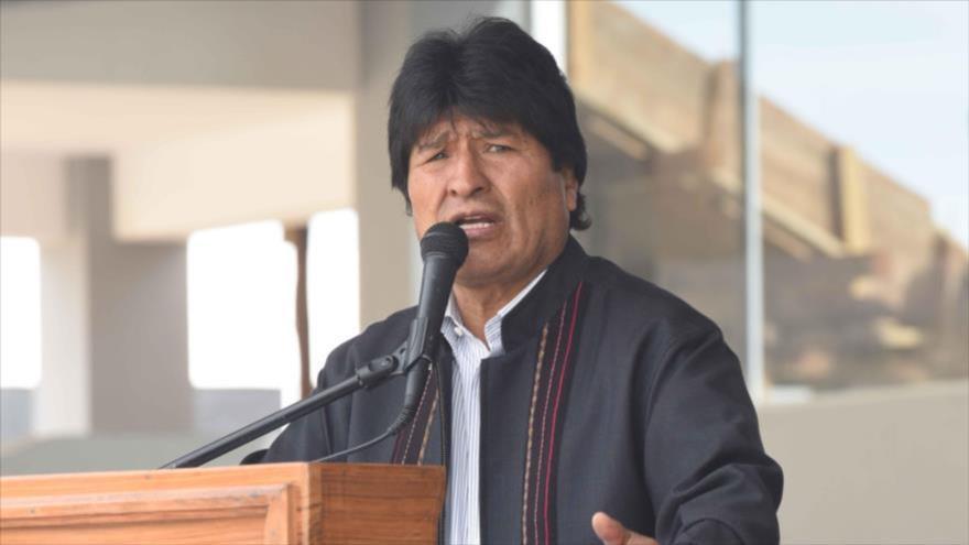 El presidente de Bolivia, Evo Morales, habla en un evento en Tarata, en el estado de Cochabamba, 25 de diciembre de 2016.