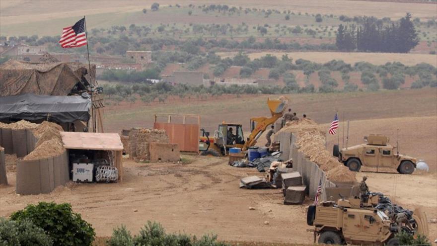 Nueva base militar de EE.UU. en la ciudad de Manbiy, norte de Siria, 8 de mayo de 2018.