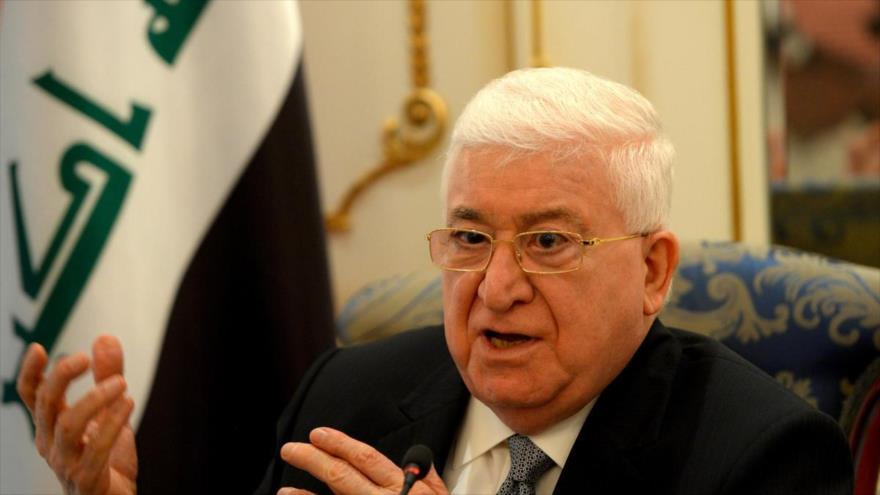 El presidente de Irak, Fuad Masum.