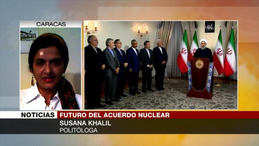 Susana Khalil: Salida de Trump de pacto nuclear golpea diplomacia