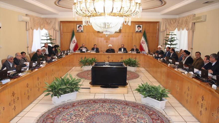 Una sesión del Gabinete del presidente de Irán, Hasan Rohani.