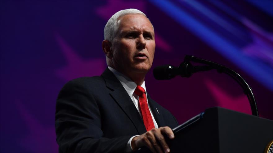 El vicepresidente de EE.UU., Mike Pence, en un evento en Dallas, en Texas, 4 de mayo de 2018.