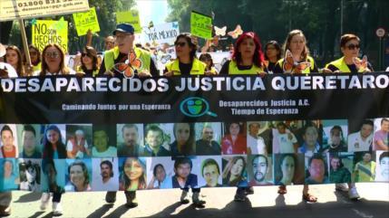 Madres de desaparecidos marchan contra la impunidad en México