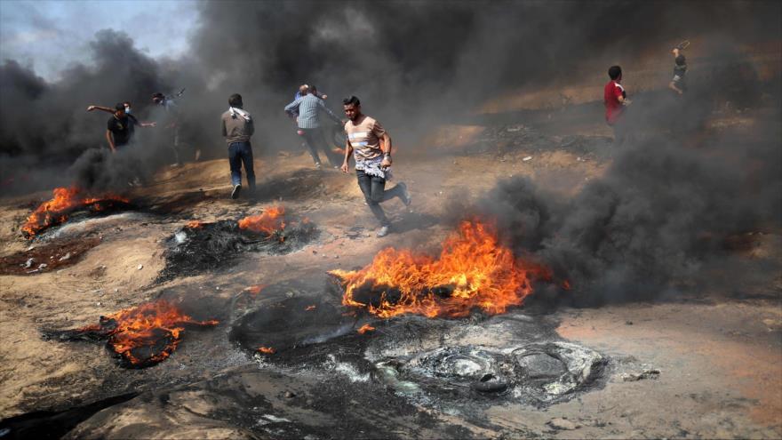 Represión israelí deja 2 muertos y 448 heridos en Franja de Gaza