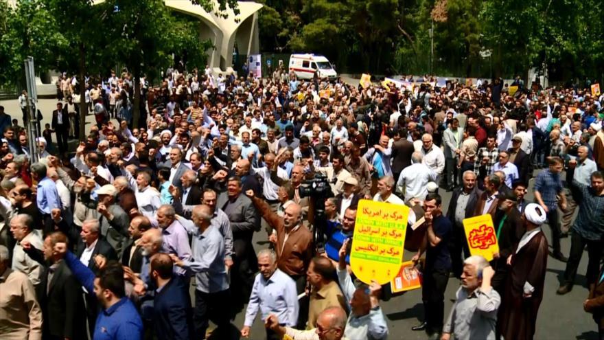 Iraníes condenan la conducta hostil de EEUU contra el país persa