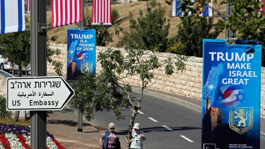 Embajada de EEUU abre en Al-Quds en medio de protestas mundiales