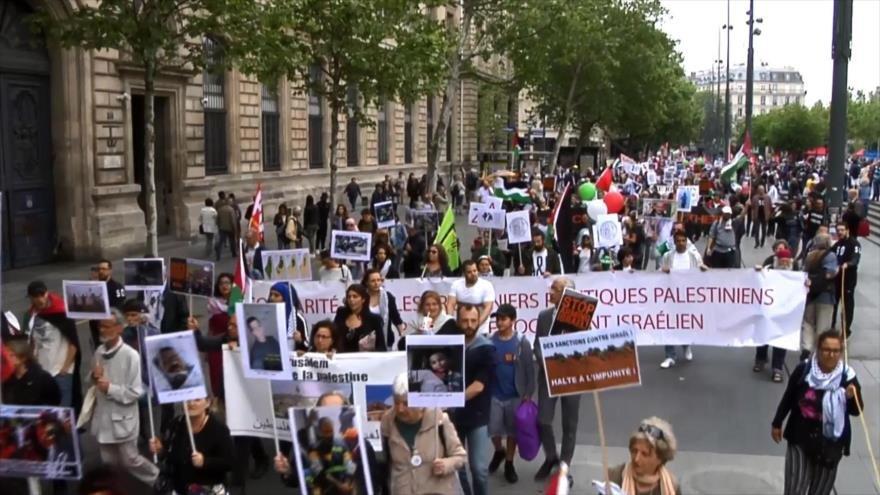 Se manifiestan en Francia por el derecho al retorno de los palestinos