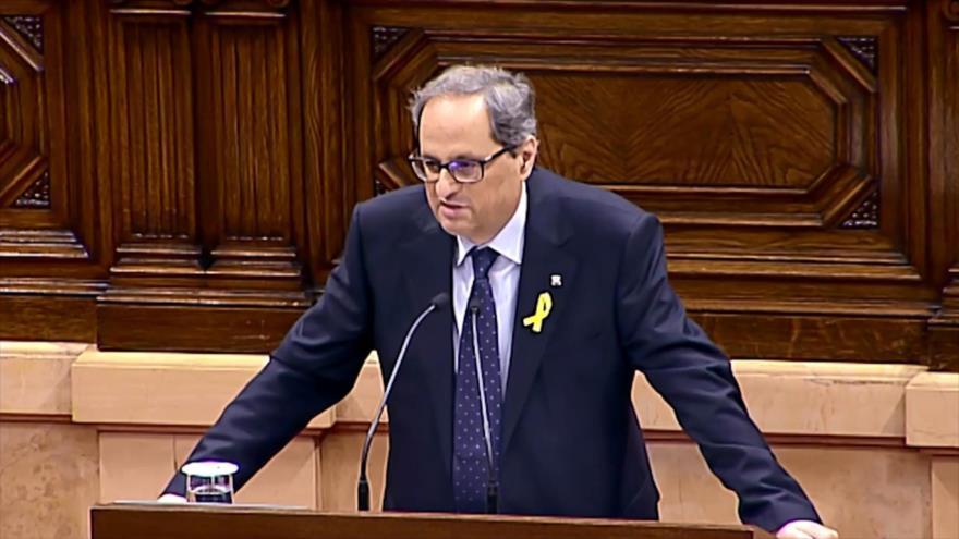 Torra promete trabajar sin descanso para lograr república catalana
