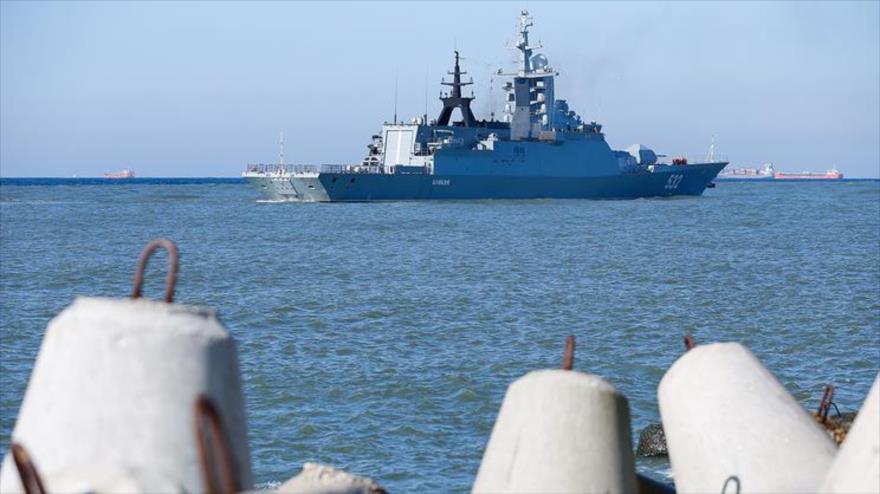 La corbeta Boiky de la Flota Báltica rusa participa en los ejercicios militares conjuntos de Rusia y Bielorrusia Zapad 2017.