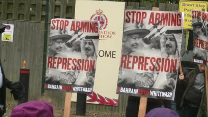 Británicos protestan contra visita del rey bareiní a su territorio