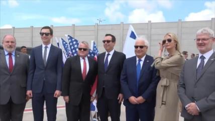 Ivanka Trump llega a ocupada Palestina para abrir embajada de EEUU