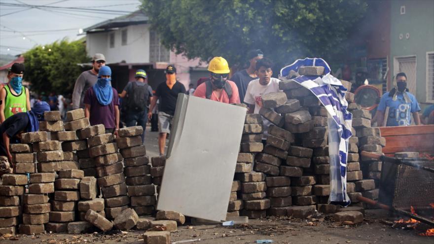 Protestan en la ciudad de Masaya contra el Gobierno del presidente nicaragüense, Daniel Ortega, 12 de mayo de 2018.