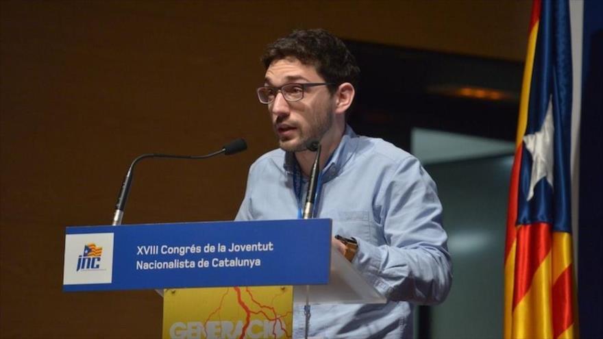 Sergi Miquel i Valentí, secretario general de Juventud Nacionalista de Cataluña (JNC), sección juvenil del Partido Demócrata Europeo Catalán (PDeCAT).