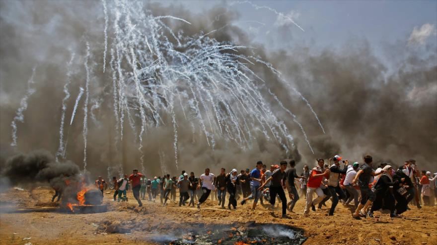 Aviones israelíes bombardean Gaza en medio de marchas por Al-Quds