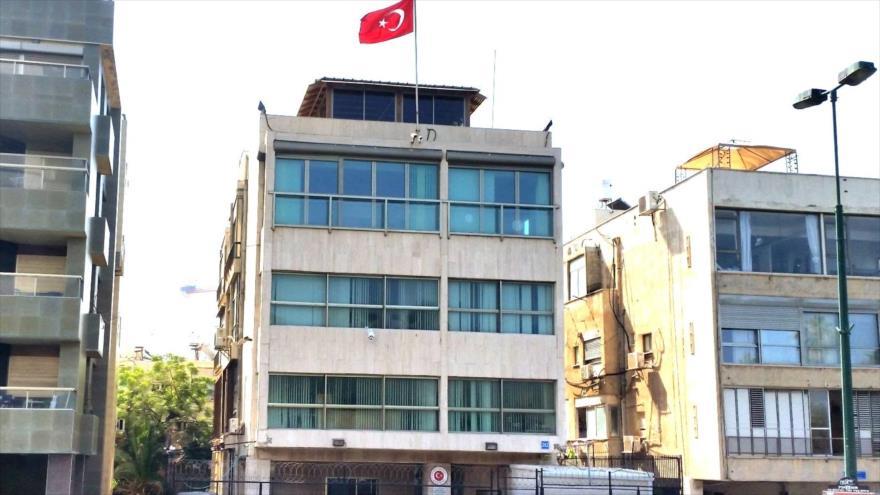 Embajada de Turquía ante el régimen de Israel en Tel Aviv.