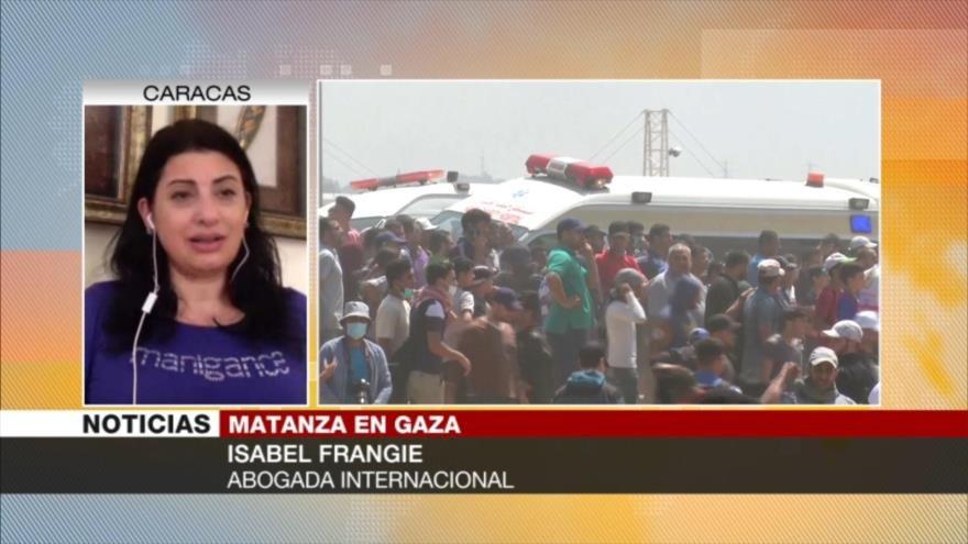 Isabel Frangie: Crímenes de guerra de Israel no quedarán impunes