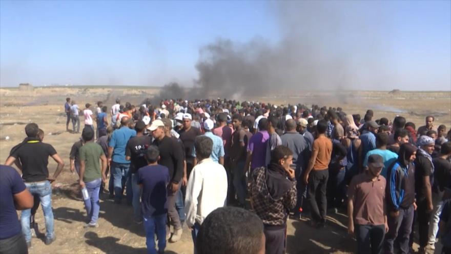 Más de 50 palestinos muertos por fuego israelí en las protestas