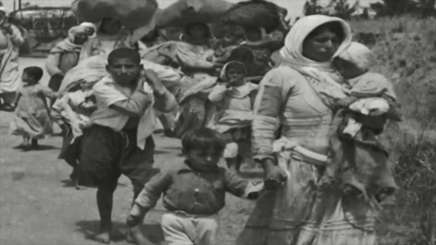 Palestinos se manifiestan para conmemorar Día de la Nakba