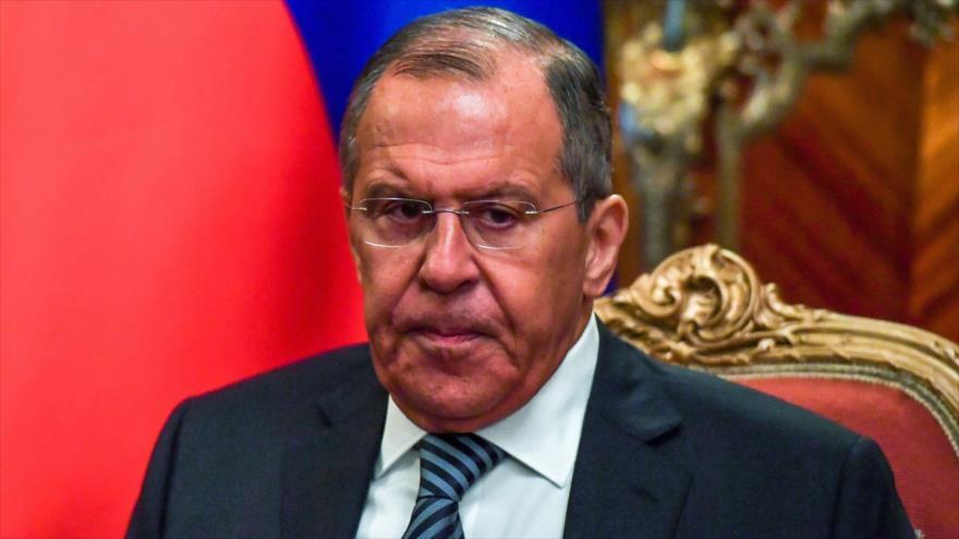 El canciller ruso, Serguéi Lavrov, asiste a una reunión en Moscú (capital rusa), 11 de mayo de 2018.