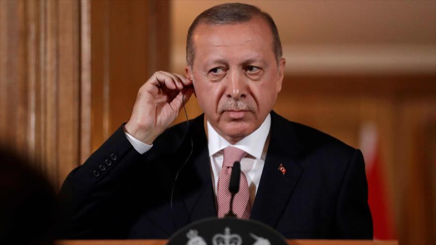 El presidente de Turquía, Recep Tayyip Erdogan, 15 de mayo de 2018.