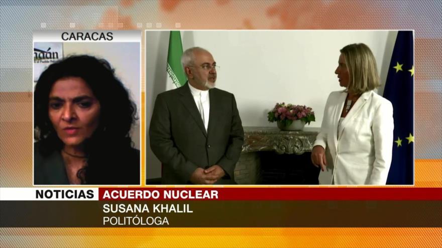 Susana Khalil: la salida del EEUU del acuerdo nuclear es lamentable